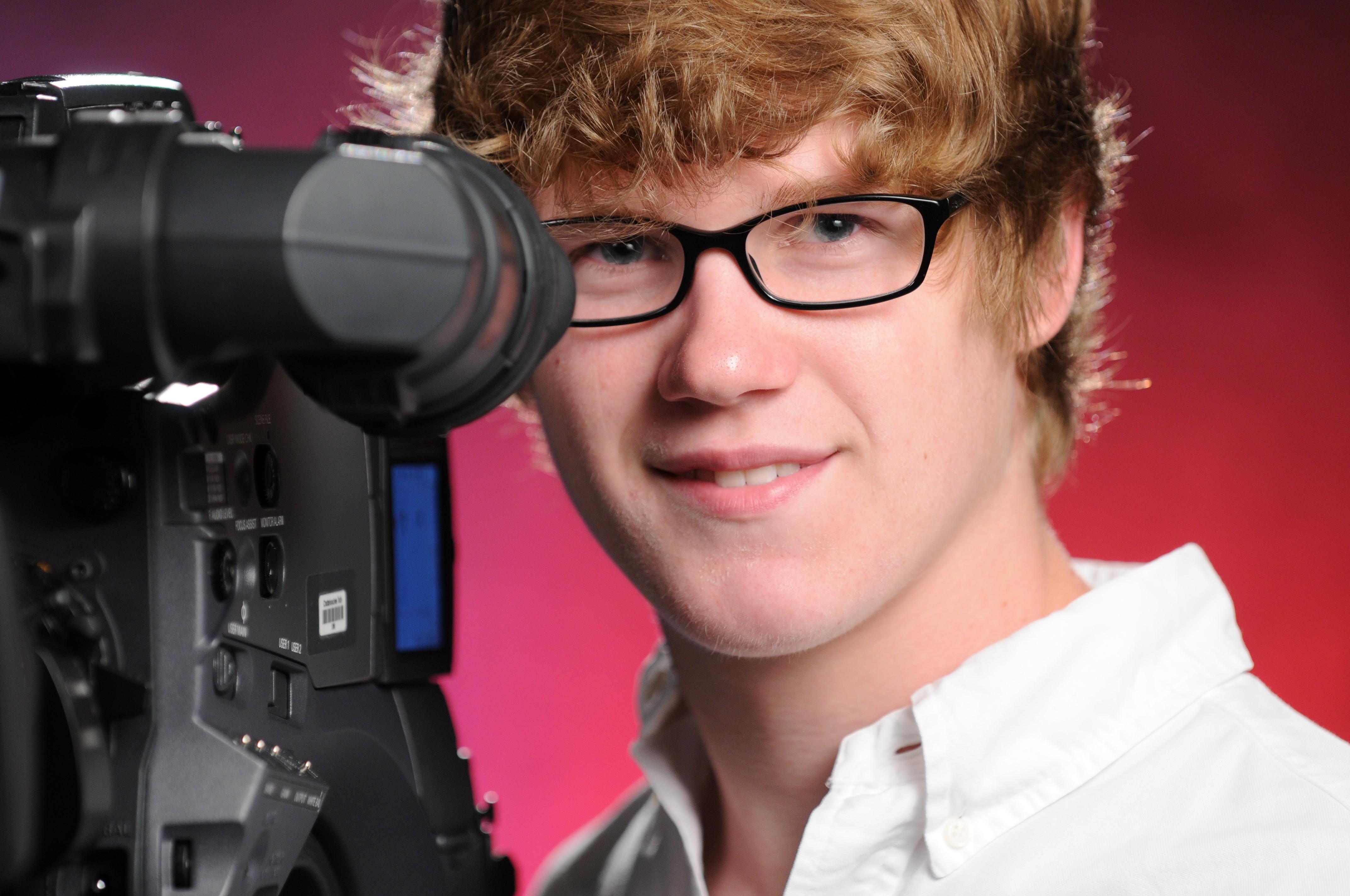 Student using camera