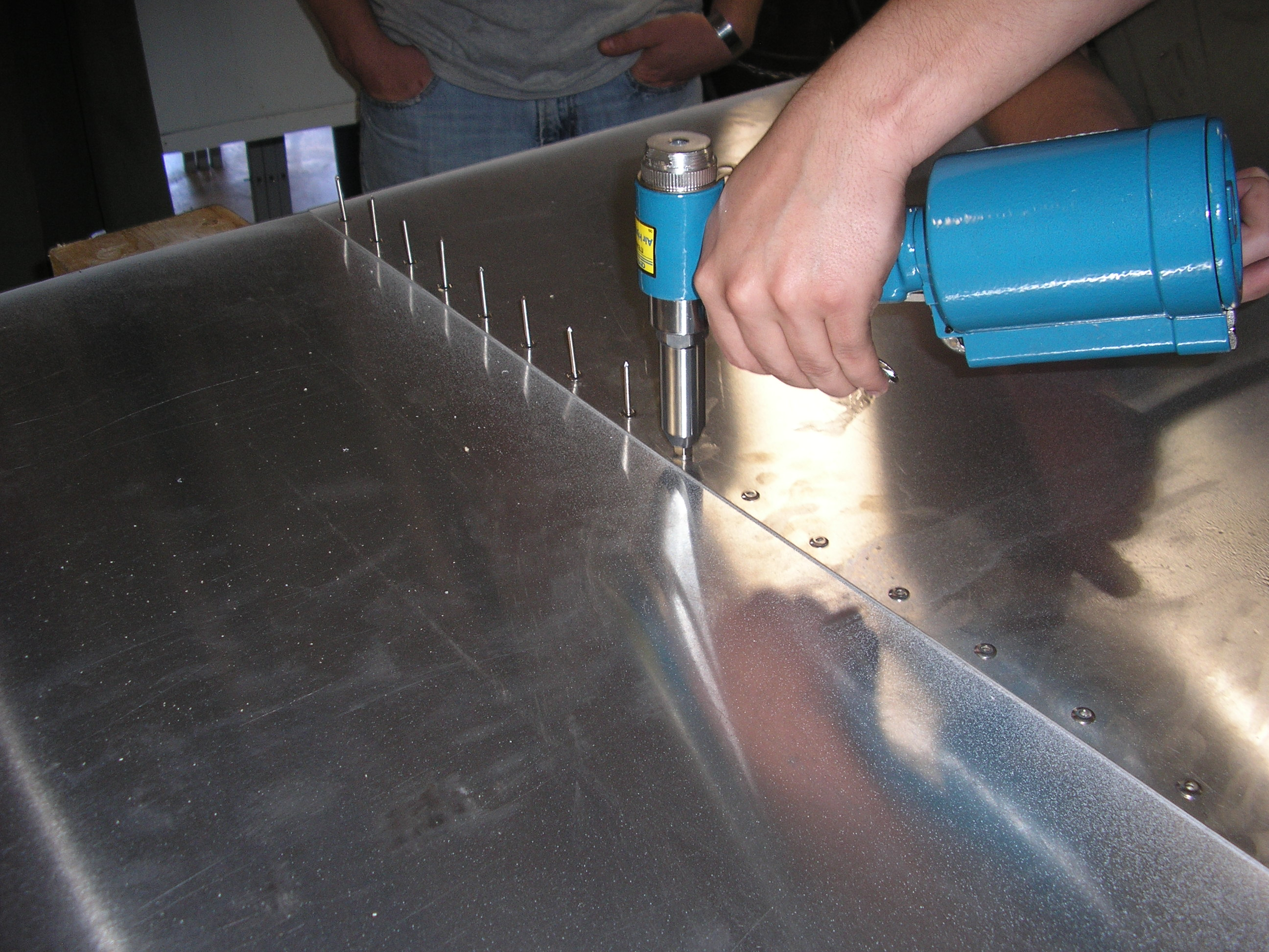 Sheet metal being joined