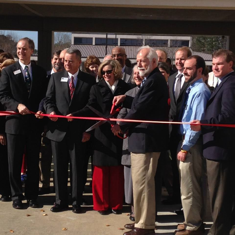 Woodstock campus ribbon cutting