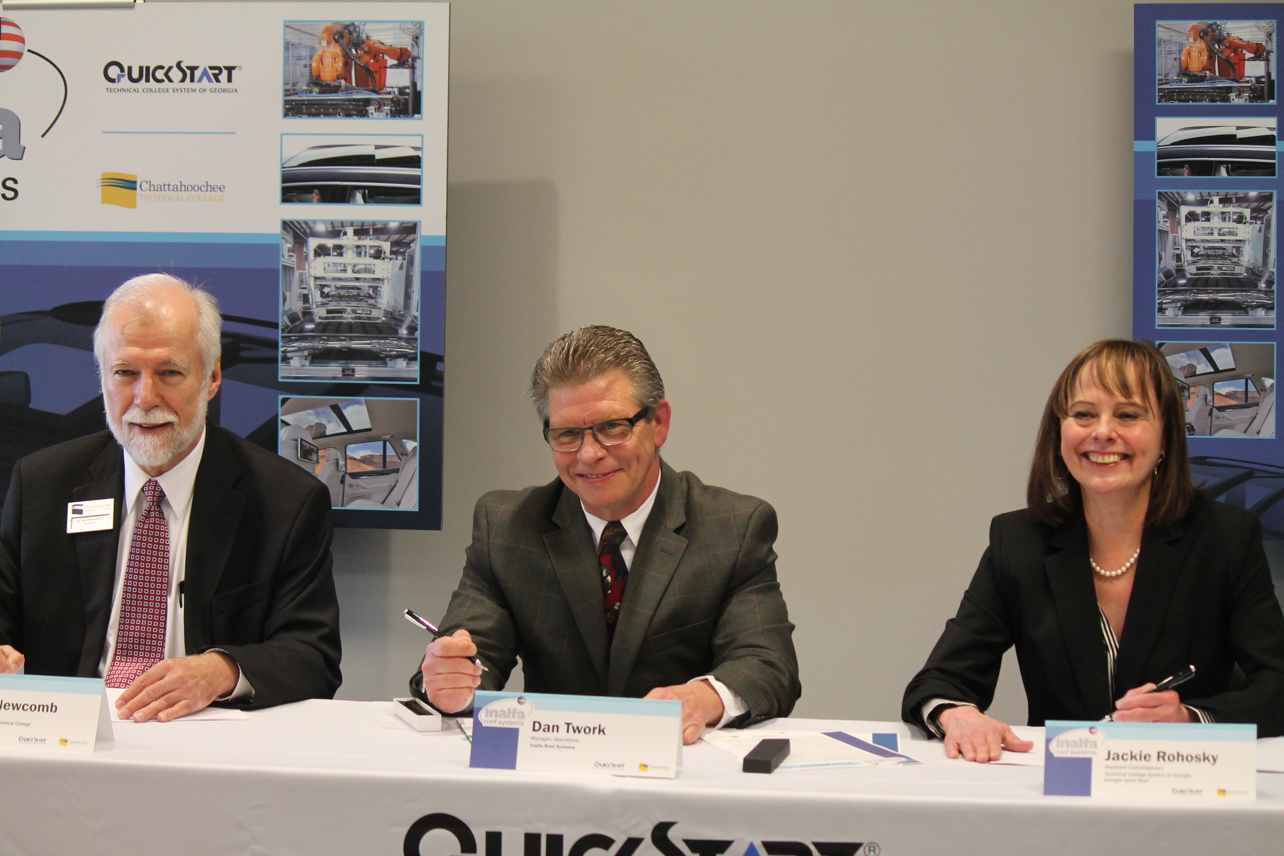 Dr. Newcomb sits on QuickStart Panel