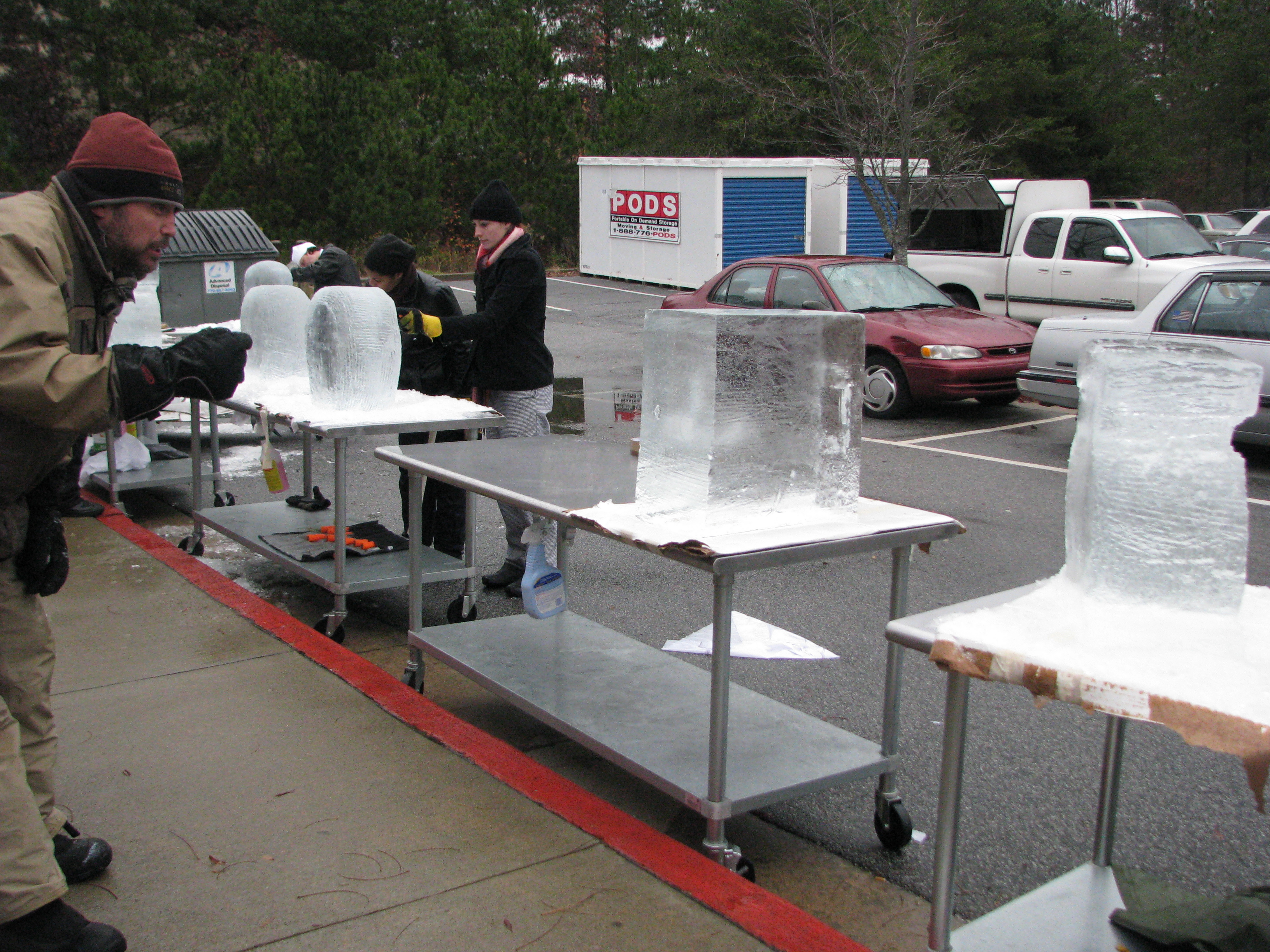 Ice sculpting competition