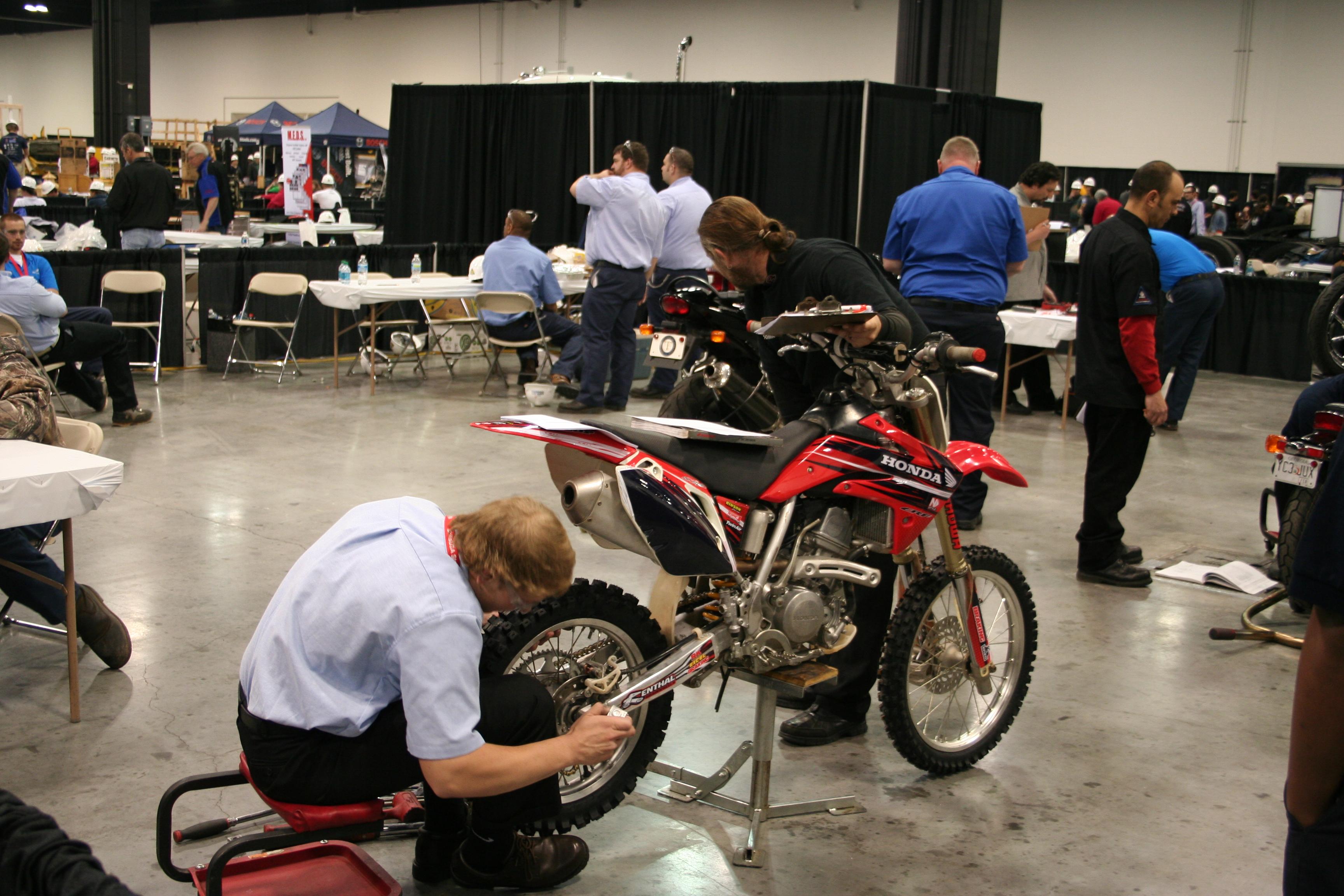 Motorcycle program bay photo