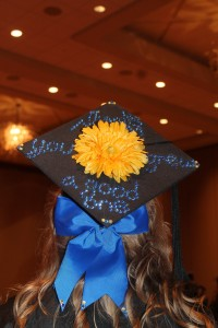 Paula DeVane's graduation cap was decorated with a message thanking her mom.