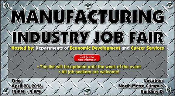 Manufacturing Industry Job Fair slider 3-16