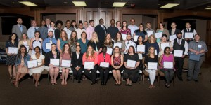 The Chattahoochee Tech Foundation honored the recipients of 42 different scholarships at a reception held Tuesday, April 26. The 56 winners, pictured in no particular order, represent a wide variety of the programs offered at Chattahoochee Technical College.