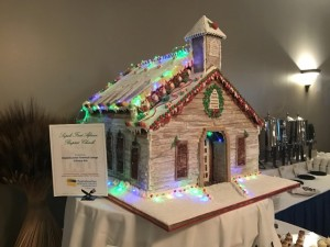 Gingerbread house replica of First African Baptist Church, which was originally built in 1866 by freed slaves in the post-Civil War era.