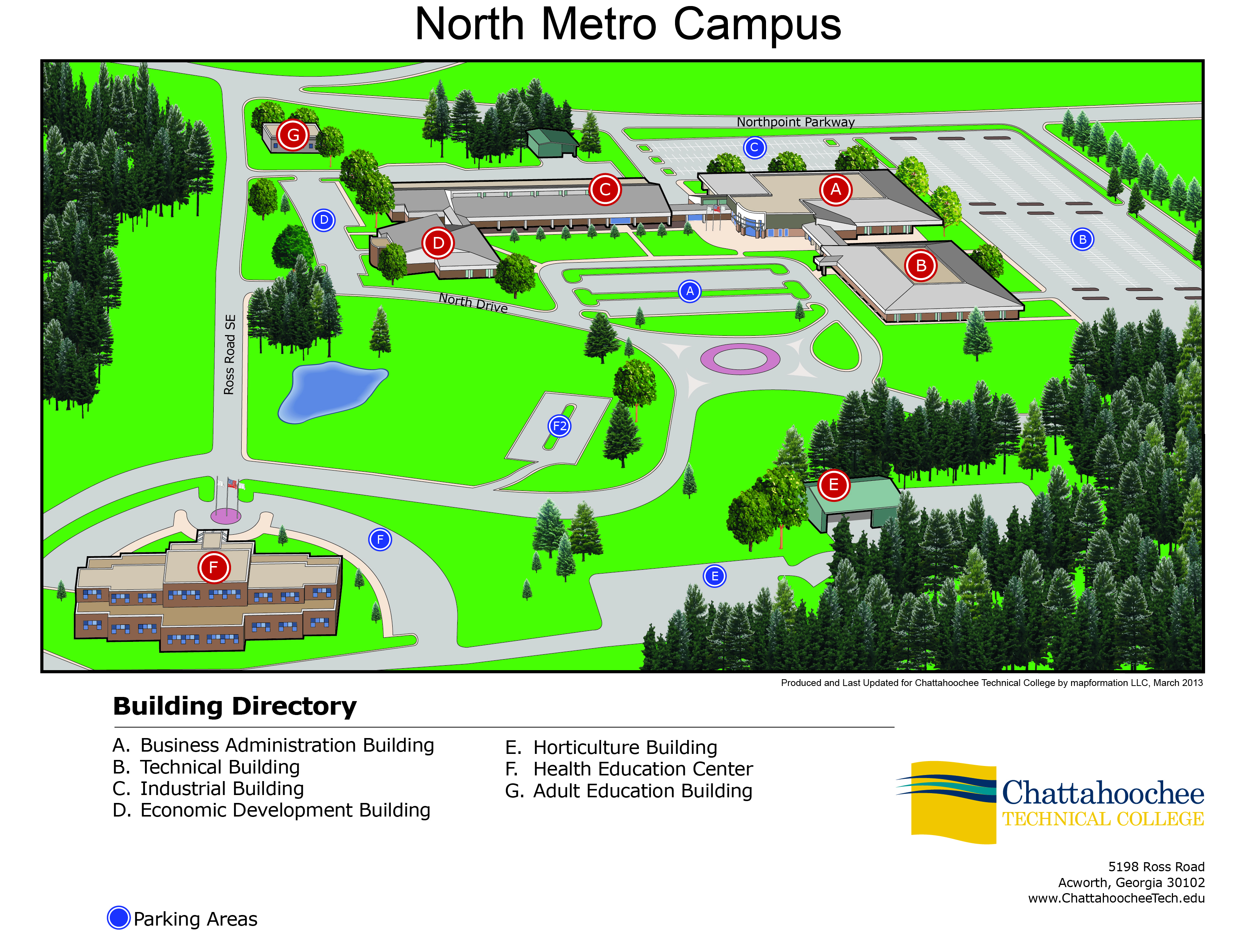 Driving Directions To North Metro Campus