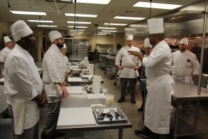 Photo of Certified Master Chef Daryl Shular speaking to CTC Culinary Arts students.