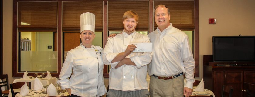 CTC Culinary Student holds award