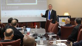 Chattahoochee Tech Cybersecurity Faculty Advisor Charles Chapman addressed the State Senate Study Committee on Cyber Security Education on Thursday, Nov. 9 at the Chattahoochee Tech Acworth Campus.