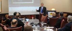 CTC Instrustor makes cybersecurity education presentation for State Senate committee.