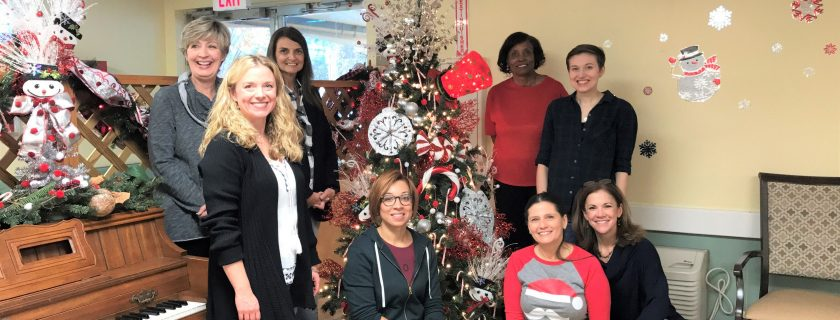 Pictured, from left, with instructor Ginger Burton, are Interiors Program students Babby Norsworthy, Burton, Chris Ugi, Esmerelda Gomez, Joyce Crockett, Jamie Yoh, Madison Gowder and Michelle Kay.