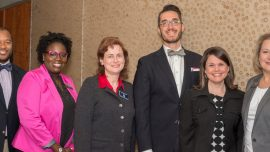 Pictured at the event are, from left, CTC Special Populations Coordinator Brannon Jones, CTC Career Services Coordinator Annette Sinclair, TCSG Assistant Commissioner Dr. Katherine Hornsby, NAPE Equity Researcher and Instructor Ricardo Romanillos, TCSG Special Populations/Career Services/Equity Coordinator Kim Ellis and CTC Vice President of Student Affairs Jennifer Nelson.