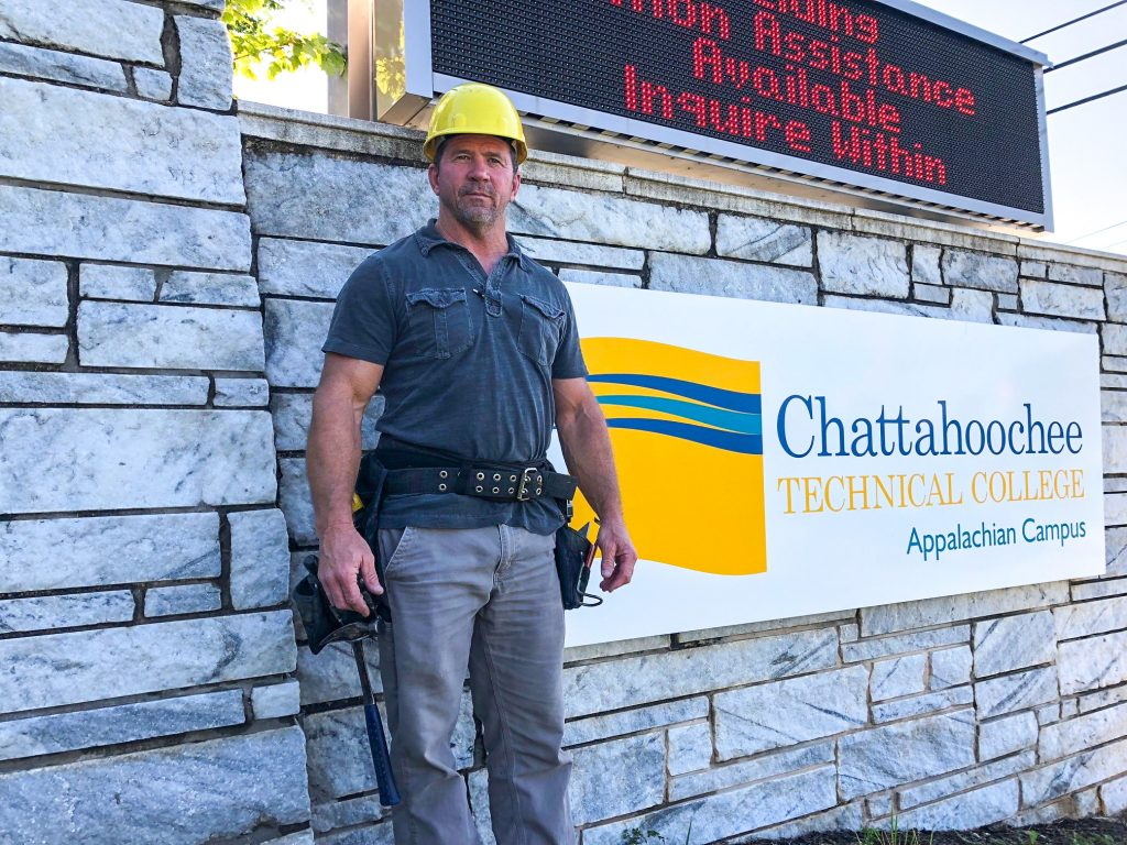 Chattahoochee Technical College Instructor Bill Mullis is working to help launch the new Carpentry Program this fall at Chattahoochee Tech Appalachian Campus in Jasper.