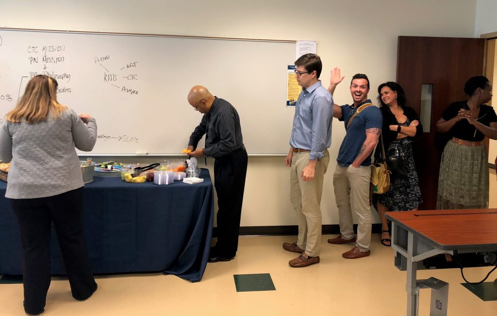 Chattahoochee Tech students in the college's Associate of Nursing (ASN) program enjoyed a breakfast hosted by the college's Paulding Engagement Team at the Paulding Campus on Thursday morning, Aug. 30.