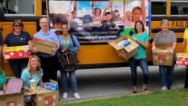 "Chattahoochee Tech Paulding Engagement Team Helps ""Stuff the Bus"" with School Supplies"