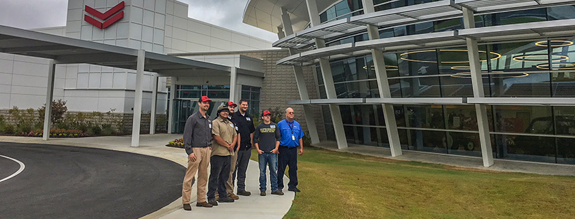 Chattahoochee Tech welding students visit Yanmar.