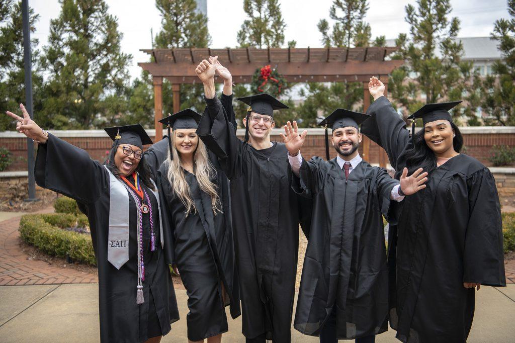 Chattahoochee Tech students celebrate graduation.