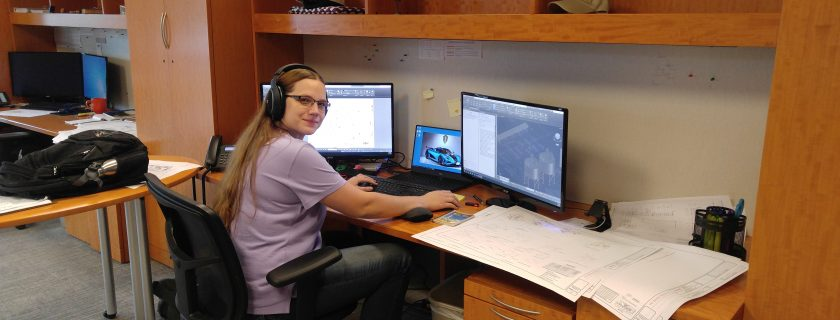 Photo of CTC Drafting graduate Genevieve Welday, who works in the design and draft process and packaging lines for the Dennis Group in Duluth.