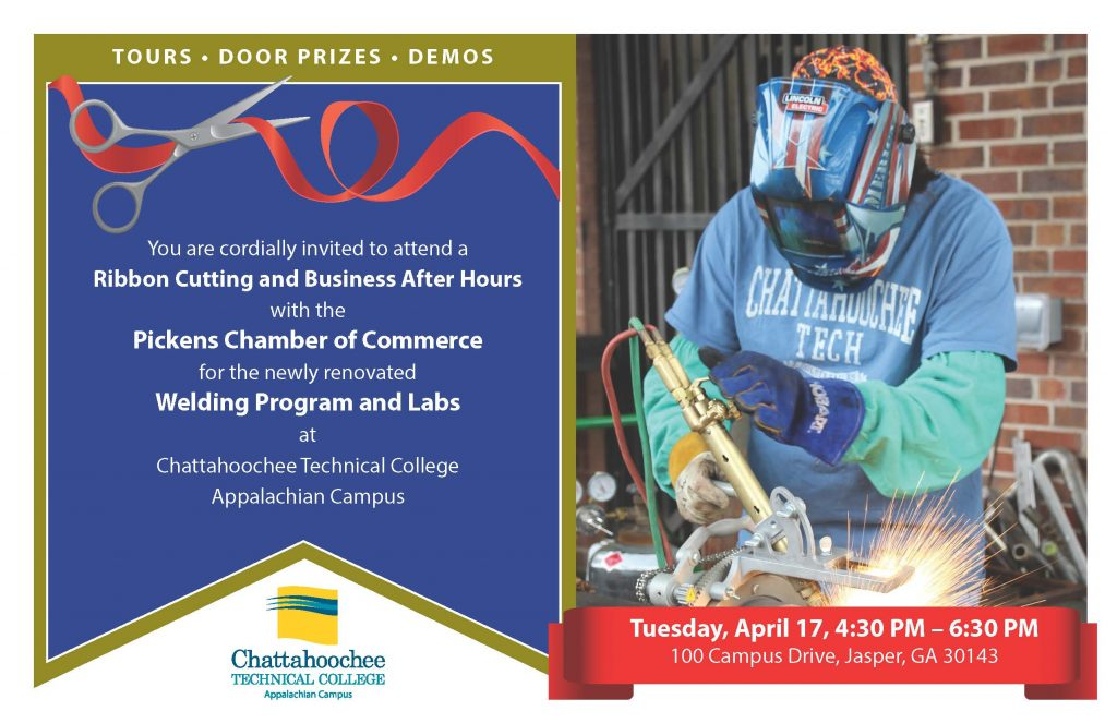 Welding at Pickens Chamber event flyer