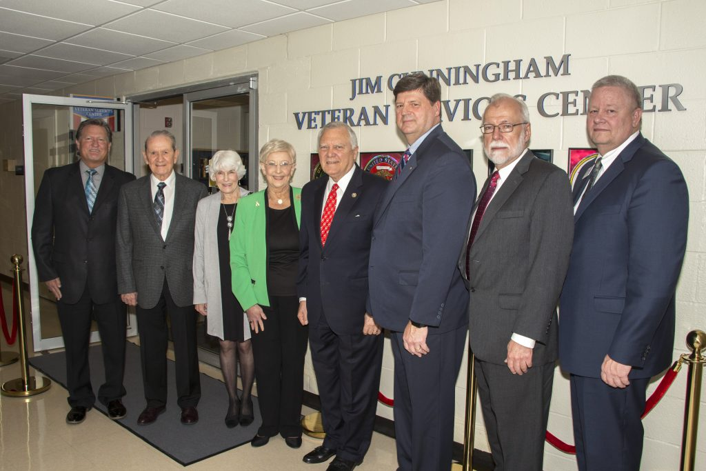 Chattahoochee Technical College hosted Georgia Gov. Nathan Deal among many additional state and community leaders at a dedication ceremony on Thursday, April 19, for the college's newly renovated Jim Cunningham Veteran Services Center.