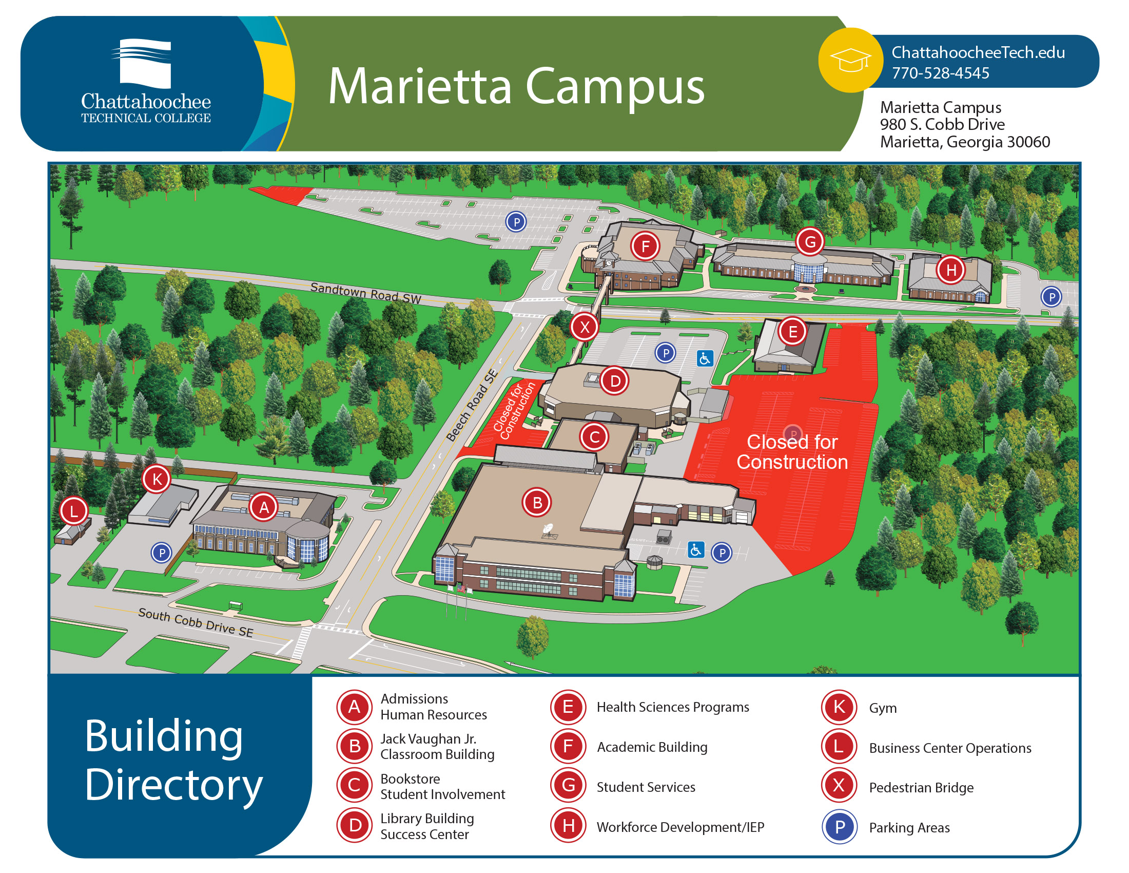 Salem College Campus Map.Library