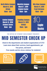 Mid-Semester Check Up poster image for all campuses