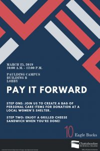Poster image for Pay It Forward event at Paulding Campus