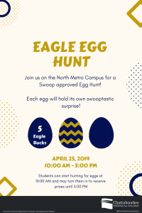 Poster Image for Eagle Egg Hunt at North Metro Campus
