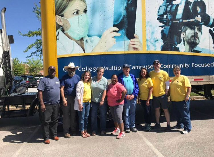 Members of the CTC Paulding Engagement Team gathered on Saturday at the Touch a Truck Day.