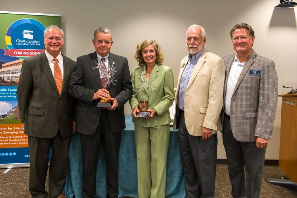Retiring Board members were honored at the meeting.