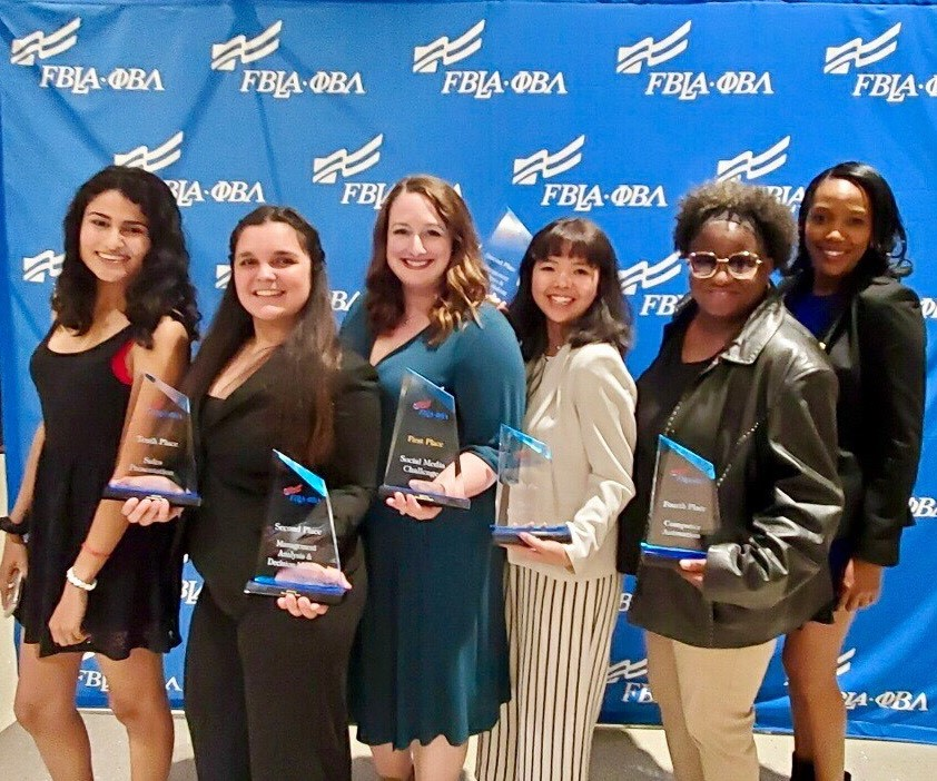 Chattahoochee Tech was well represented by six students at the Future Business Leaders of America – Phi Beta Lamda 2019 National Leadership Conference held recently in San Antonio, Texas. Shown, l-r, are Stephanie Chadwick, Alicia Thompson, Nicole Sciortino, Sue Nguyen, Jemetria Mabrey and Aerika McCants.