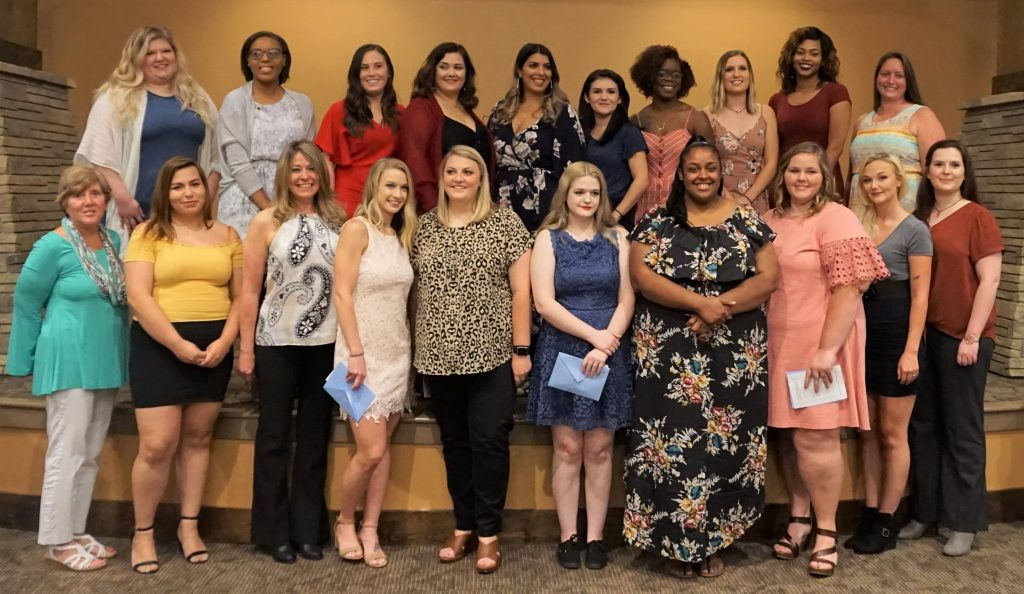 Class of 2019 Surgical Technology Program graduates are shown here with Program Director Lorraine Wilderman.