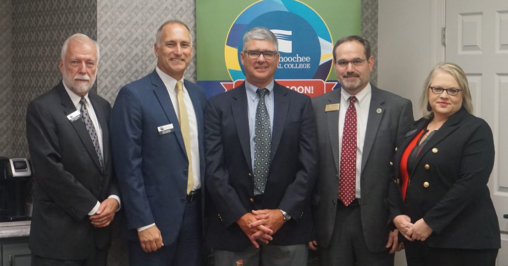 The Chattahoochee Technical College Board of Directors welcomed new Board member Chip Poth met at their August 2019 meeting, which was held in Gilmer County.