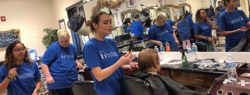"""Chattahoochee Tech Cosmetology Program Volunteers Help to """"Give a Kid a Chance"""""""
