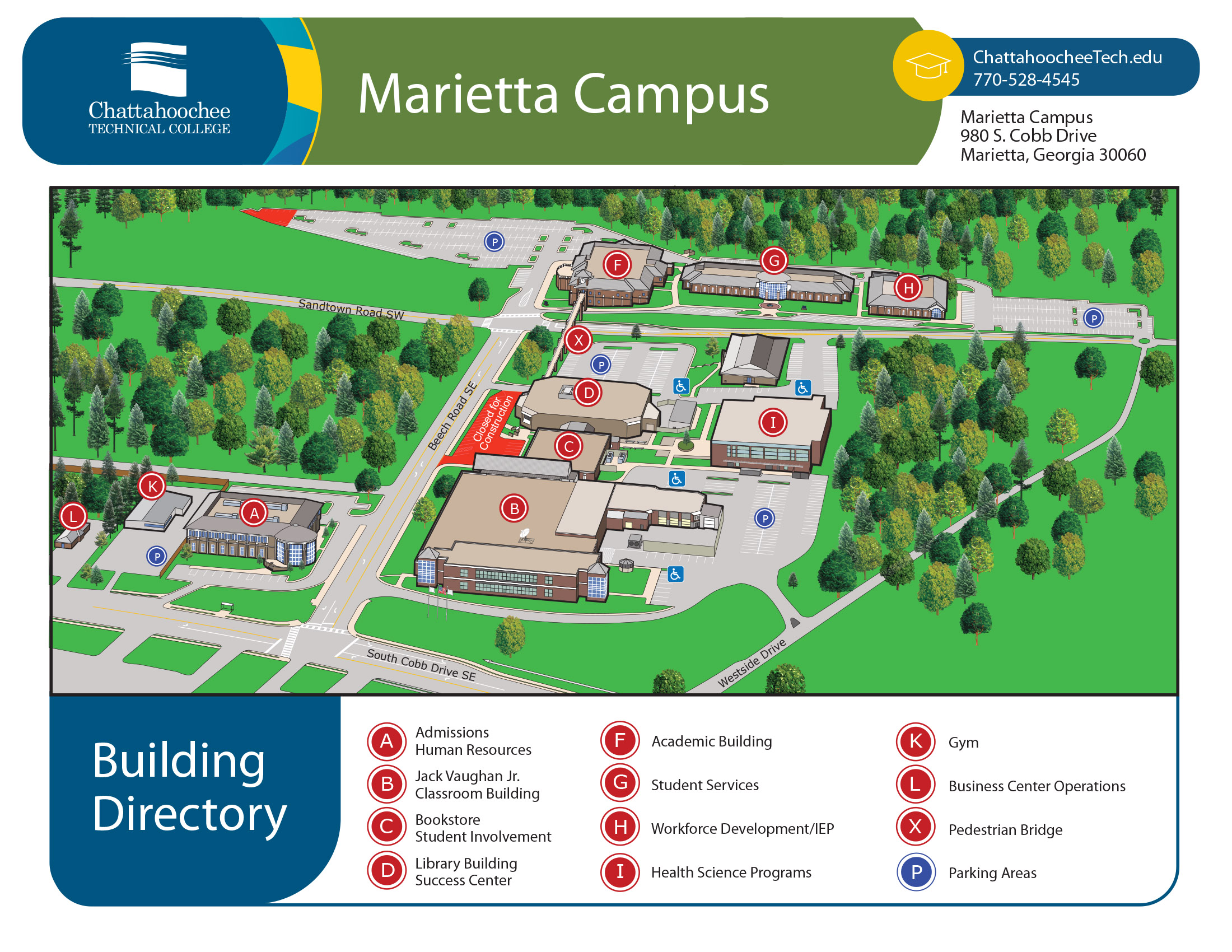 chattahoochee tech marietta campus map Campus Locations Chattahoochee Technical College chattahoochee tech marietta campus map