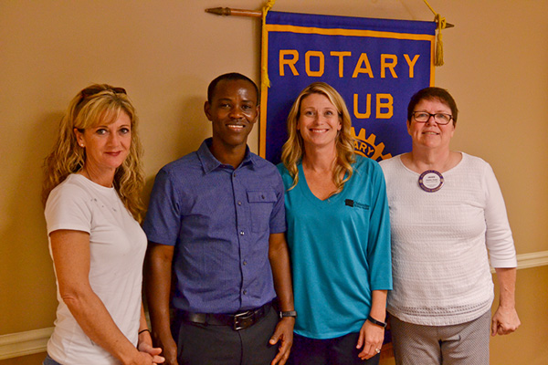 Shown above, l-r, are Paulding Rotary Club scholarship recipients Julie Mullenix and Richard Omari, Chattahoochee Tech Executive Director of Admissions and Records Missy Cusack, and Paulding County Rotary Club President Jackie Crum.