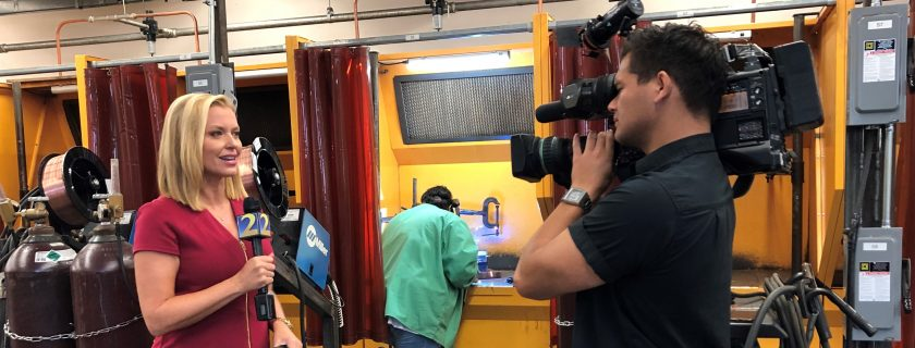 WSB-TV Channel 2 Highlights Chattahoochee Tech Welding Program |