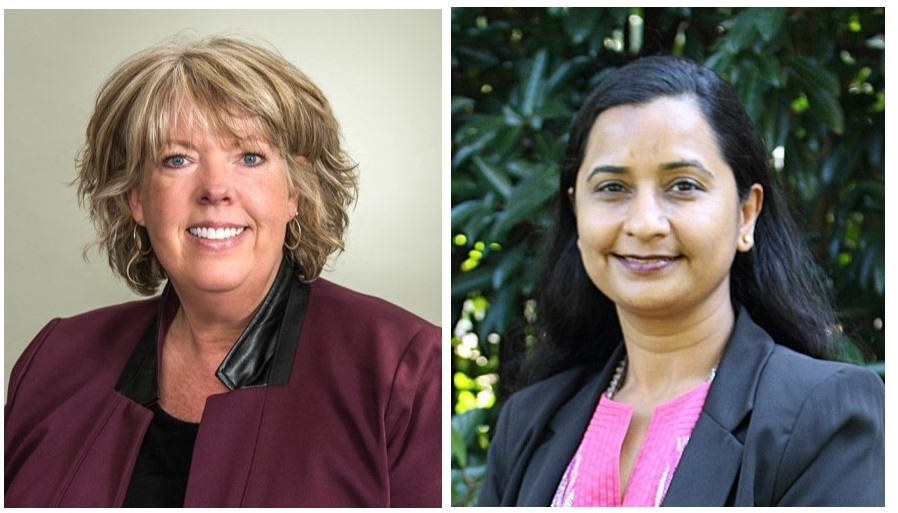 Both Stephanie Puffer and Bhavya Mathur of Chattahoochee Tech were selected as 2019-2020 Governor's Teaching Fellows. Shown here, l-r, are Puffer and Mathur.