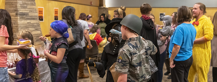 Crowd photo from Halloween Celebration at North Metro Campus