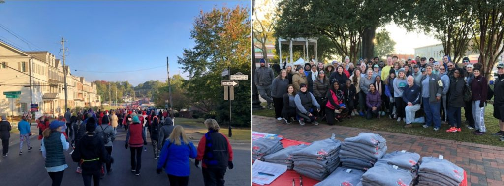 Downtown Marietta was filled with people for the 2019 Northwest Georgia Heart Walk.