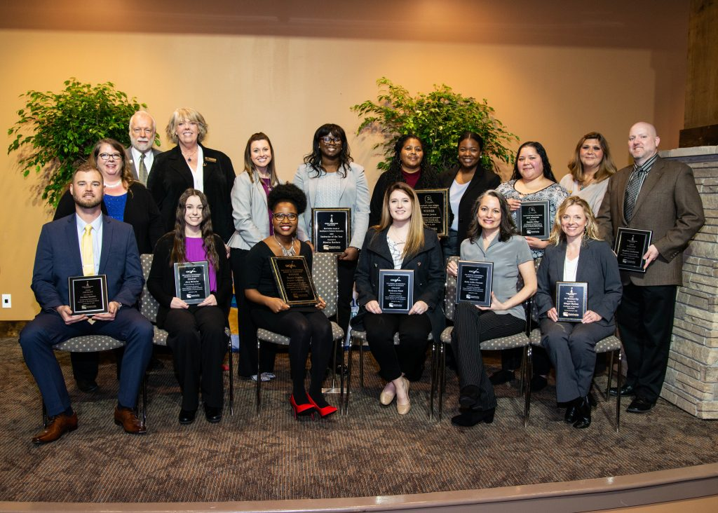 Chattahoochee Tech award finalists are shown here, at the college's 2020 Awards Luncheon.