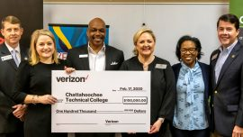 Verizon Foundation Awards $100,000 Grant to Chattahoochee Tech Foundation to Help Fund STEM Educational Initiative
