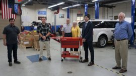 Professional Automotive Tool Sets Presented to Eight Chattahoochee Tech Students Thanks to Mike Peterson Memorial Award