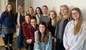 Shown here, from a photo taken in January 2020 at their first design meeting for their class project, are the Chattahoochee Tech Interiors program students with Lead Instructor Ginger Burton.