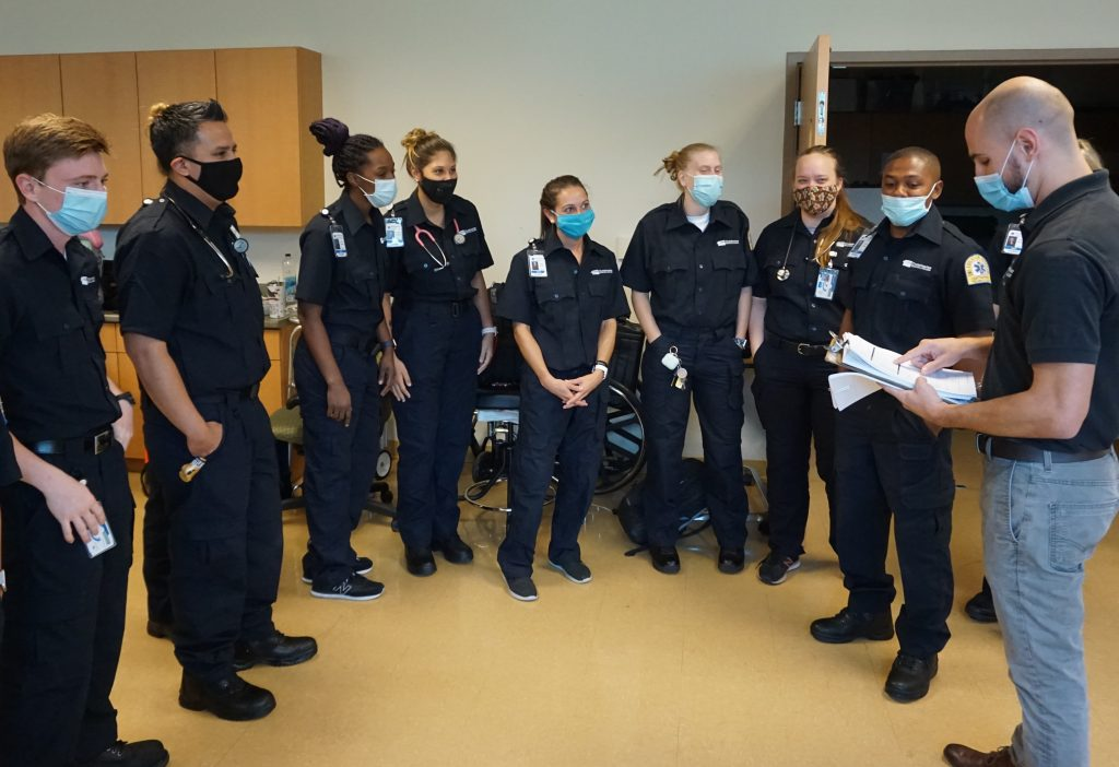 EMT students at CTC with Instructor Brian LeSage