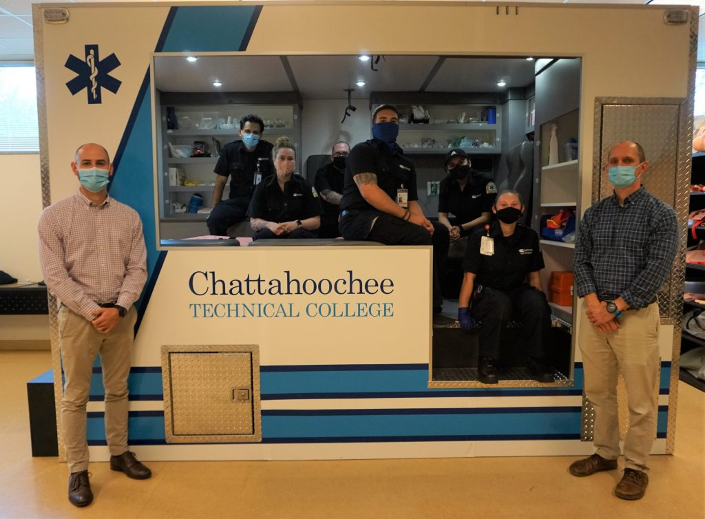 Chattahoochee Tech paramedicine students with Program Director and Instructor
