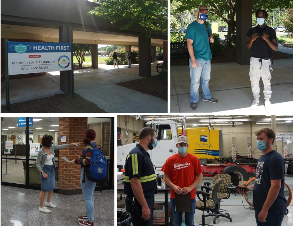 Chattahoochee Tech students return to campus for fall semester 2020.