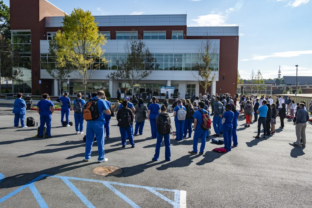 Chatt Tech students gathered with state and local leaders to celebrate the college's brand new health science building.