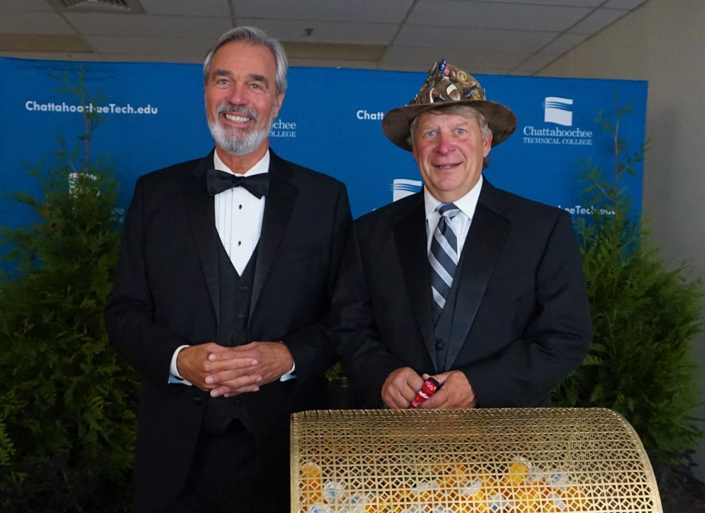 The Chattahoochee Tech Foundation 2020 Reverse Raffle featured, l-r, Mark McCain and Louis Tonsmeire.